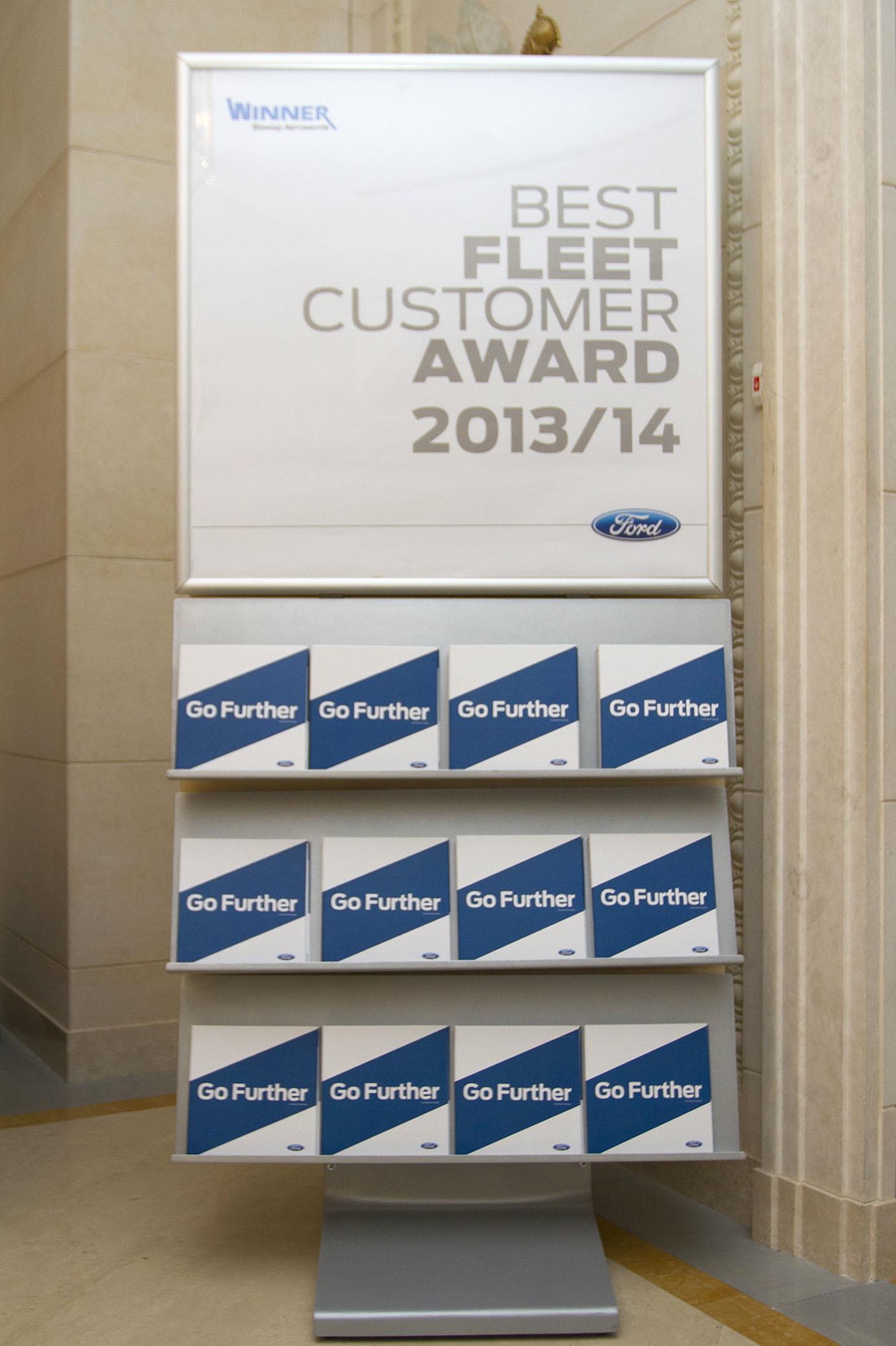 Премія Best Fleet Customer Award 2013/14 від «Віннер Автомотів» - офіційний представник Winner в Україні