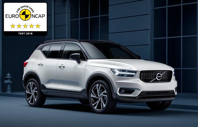 Volvo XC40, отримав 5 зірок із безпеки у рейтингу Euro NCAP - офіційний представник Winner в Україні